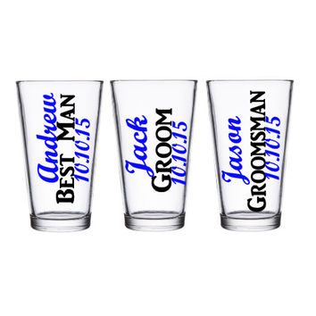 Groomsman Pint Glass, Groomsman Gift, Best Man Pint Glass, Bridal Party Gifts, Groomsman Gifts