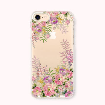 Floral iPhone 7 Case, iPhone 7 Plus Case, iPhone 6/6S Case, iPhone 6/6S Plus Case, iPhone 5/5S/SE Case, Galaxy S7 Case - Glassy Flowers