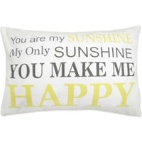 "The Vintage House by Park B. Smith® ""My Sunshine"" Oblong Throw Pillow"