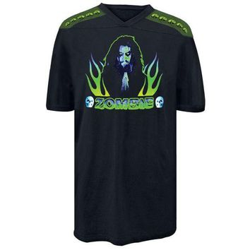 DCCKIS3 Rob Zombie - Praying Flames Football Jersey