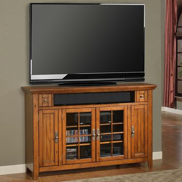 """Terrace 62"""" TV Stand / Console (Tall) Antique Vintage Smoked Ash"""