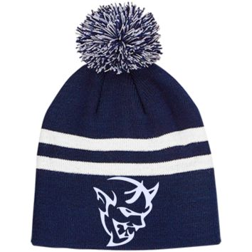 DODGE DEMON 2 TT122 Team 365 Striped Pom Beanie