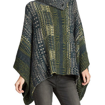 Free People Knit Poncho