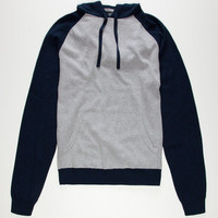 Retrofit Robert Mens Hooded Sweater Blue  In Sizes
