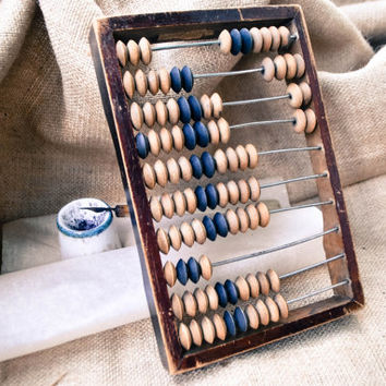 Soviet Vintage Office Abacus / Old Wooden Abacus / Soviet Calculator / Made in USSR
