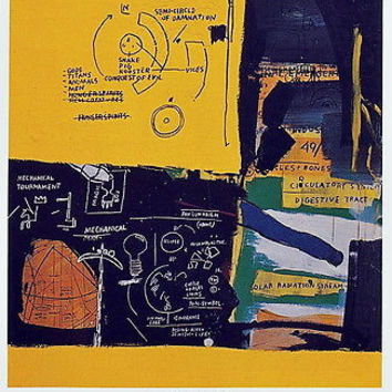 Untitled (1984), Exhibition Poster, Jean-Michel Basquiat