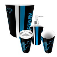 Carolina Panthers NFL Complete Bathroom Accessories 4pc Set