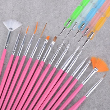 20pcs Nail Art Design Set Dotting Painting Drawing Polish Brush Pen Tools SV002093 = 5658877313
