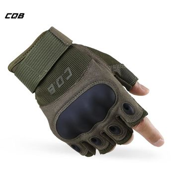 CQB Outdoor Sports Camping Tactical Men Military Half Finger Gloves for Training Hiking Riding Cycling