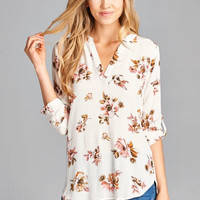 Brunch Floral Top - Ivory