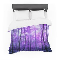 "Iris Lehnhardt ""Magic Woods"" Purple Forest Featherweight Duvet Cover"