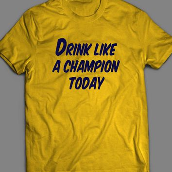 "COLLEGE FOOTBALL MICHIGAN ""DRINK LIKE A CHAMPION"" T-SHIRT"