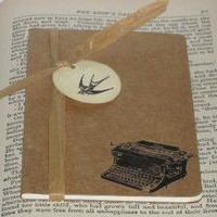 Vintage Typewriter Altered MOLESKINE by modernSCRAPYARD on Etsy