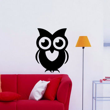 Owl Wall Decal Stickers Bedroom Bird Kids Nursery Decoration Baby Room D208