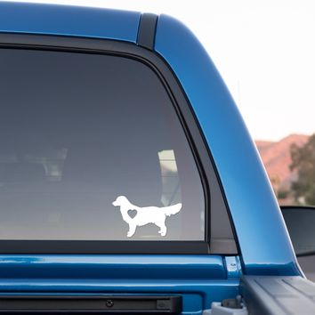 Golden Retriever Love Sticker for Cars and Trucks