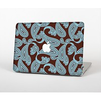 The Blue and Brown Paisley Pattern V4 Skin for the Apple MacBook Air 13""