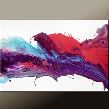 Abstract Canvas Art Painting 36x24 Original Contemporary Paintings by Destiny Womack - dWo - Enchanted