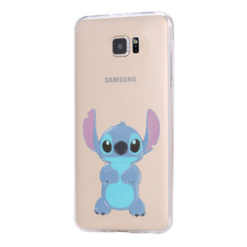 LILO & STITCH Galaxy s6 Case Galaxy S6 Edge Case Galaxy S5 Clear Hard case C137