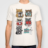 Cats Love Cameras T-shirt by Andrea Lauren