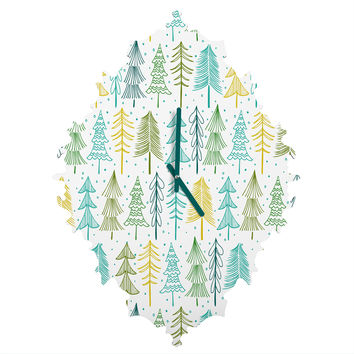 Heather Dutton Oh Christmas Tree Frost Baroque Clock