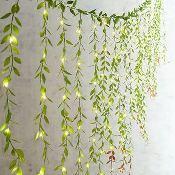 Faux Greenery Multi-Strand Curtain LED Glimmer Strings®