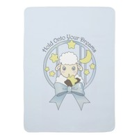 Cute Animal Baby Girl Blankets: Little Lamb, Moon, and Stars: Hold Onto Your Dreams: Sweet Gift Idea for Baby Shower and Newborns