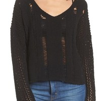 Moon River Net Detail Sweater | Nordstrom