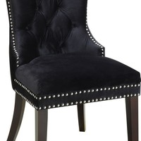 Nikki Black Velvet Dining Chair (set of 2)