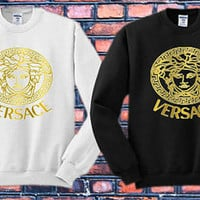 Versace Crewneck Sweater   Available Size S,M,L,XL,XXL color black and white