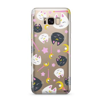 Sailor Kitty - Clear Case Cover for Samsung