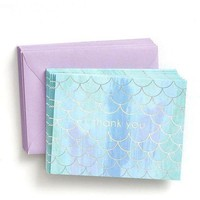 Mermaid Scales with Foil Thank You Notes