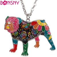 English British Bulldog Bull Terrier Necklaces Pendants