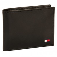 Tommy Hilfiger Men's Leather Dore Passcase Billfold Bifold Wallet - NEW