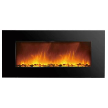 "Clevr 750-2000W 48"" Adjustable Electric WallMount Fireplace Heater Stone Colors"