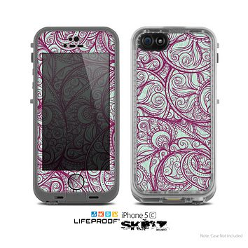 The Vector Purple Thin Laced Skin for the Apple iPhone 5c LifeProof Case
