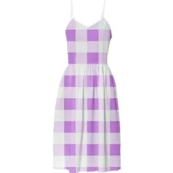 LAVENDER GINGHAM Summer Dress