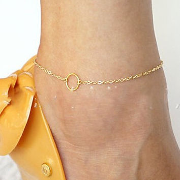 Stylish Cute New Arrival Gift Jewelry Shiny Sexy Ladies Accessory Simple Anklet [6768808135]