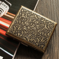 High Quality Engraved 20pcs Stainless Steel Cigarette Box