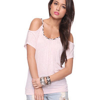 Embellished Peekaboo Top