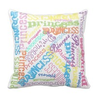 Rainbow Sherbert Color Fonts in Any Name Pillow