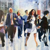 """Street people"" - Art Print by Alessandro Andreuccetti"