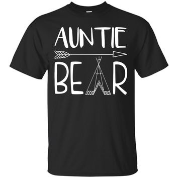Womens Auntie Bear Funny Family Matching Shirts Set