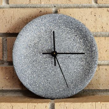 Gray Stoneware Ceramic Wall Clock