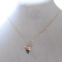 Gold Dipped Shark Tooth Necklace, Gold Shark Tooth Necklace, Dainty Jewelry, Simple everyday jewelry, Minimalist Jewelry