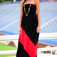 Sidelines Maxi, Black/Red
