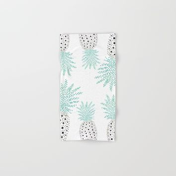 Pineapple Pattern Hand & Bath Towel by ES Creative Designs