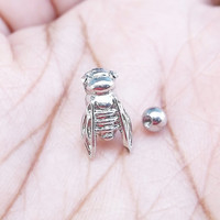 3D Cicada 316L Surgical Steel 16g, 16 gauge Helix, tragus cartilage earring