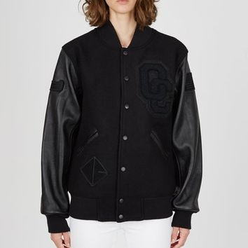 Opening Ceremony OC-EXCLUSIVE Blackout Varsity Jacket - WOMEN - JUST IN - Opening Ceremony