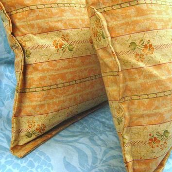 TRIANON BOUDOIRS - Pair Custom Made Decorative Boudoir Pillow Shams - Ralph Lauren Fa