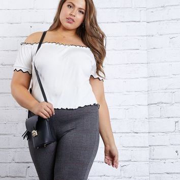 Plus Size Making Waves Off The Shoulder Top